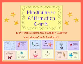 Mindfulness Affirmation Student Cards -- Positivity ...