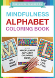 Mindfulness Alphabet Coloring Book: Pack of 26 Sheets with Alphabet/Common Words