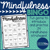 Mindfulness BINGO Game and Task Cards: Mindfulness Activities Counseling Game