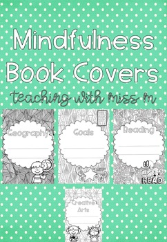 Mindfulness Book Covers (Editable) #ausbts18