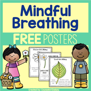 Mindfulness Breathing Posters - Free by CounselorChelsey