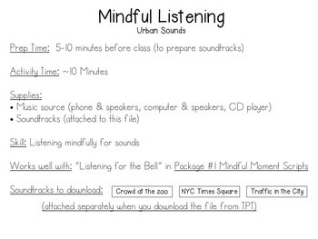 Mindfulness Bundle for Pre-K and Kindergarten
