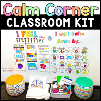Calm Down Corner Kit + Printable Calming Strategies | TpT