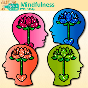 Mindfulness Clip Art {Psychology and Cognition Graphics for Resources}