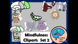 Mindfulness Clipart:  Set 2  PFC, Amygdala, Hippocampus