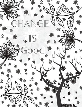 Mindfulness Coloring Fall: Change is Good