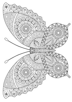 Mindfulness Coloring Page - Butterfly 3 by MR PYP | TpT