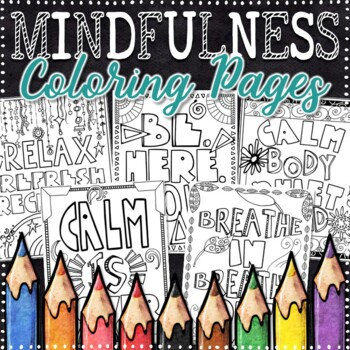 Mindfulness Coloring Pages | Calming Strategies Coloring Pages