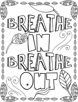 mindfulness coloring pages Mindfulness Coloring Pages | Calming Strategies Coloring Pages by  mindfulness coloring pages