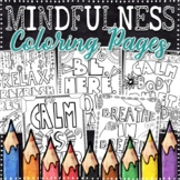 Mindfulness Coloring Pages | Mindfulness Posters | 8 Fun Doodle Designs