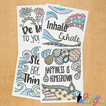 Mindfulness Coloring Pages for Kids and Teachers: 8 Exciting Designs to Color