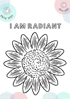 Mindfulness Colouring In- Mandala and Affirmations