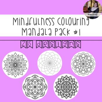 Mindfulness Colouring: Mandala #1
