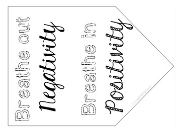 Mindfulness Colouring in Bunting