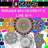 Mindfulness Colouring Pages Mandalas and Geometric Line Art