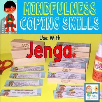 Mindfulness Coping Skills to use with Jenga® Game - Super Hero