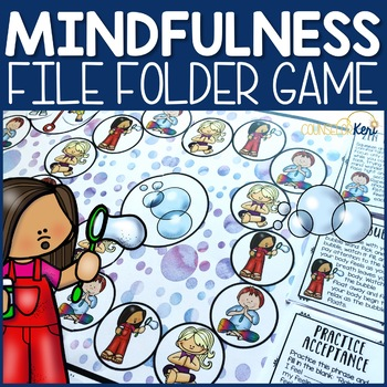 Mindfulness File Folder Game: Mindfulness Activity Counseling Game