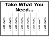 Mindfulness Grab Tags - Take What You Need, Give What You Can
