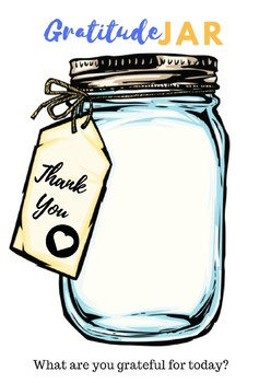 Mindfulness Gratitude Jar By Ella Humphreys Teachers Pay Teachers