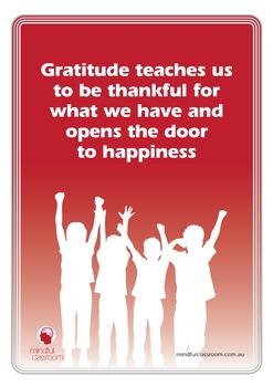 Mindfulness Gratitude Poster