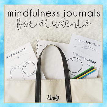 Mindfulness Journal Templates for Students