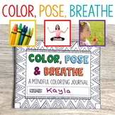 Mindfulness Journal with Yoga Poses and Breathing Strategies