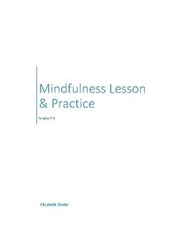 Mindfulness Lesson and Practice