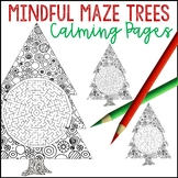 Mindfulness Maze Trees for Holiday Parties