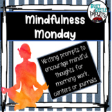 Mindfulness Writing Prompts, Morning Work, Literacy Centers, Well Being