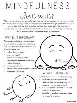 Mindfulness Parent Letter