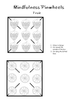 Mindfulness Pinwheels - Fruit Design