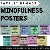 Mindfulness Posters (10 Damask Style Posters)