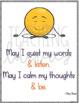 48 Mindfulness Posters w/a Bonus Mindfulness Booklist - Bulletin Board, Mindset