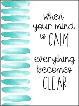 Mindfulness Posters
