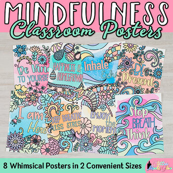 Mindfulness Posters: 8 Inspirational Quotes for Kids and Teachers