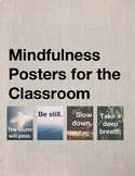 Mindfulness Posters - Zen Nature Visuals for Test Anxiety