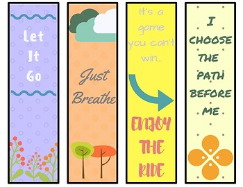 Mindfulness Quote Bookmarks