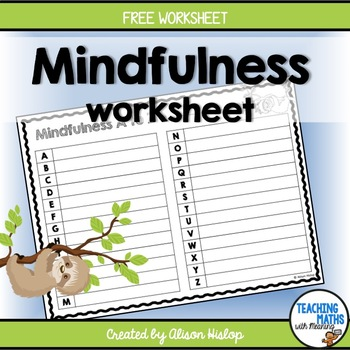 Mindfulness Resilience Well-Being Alphabet Worksheet
