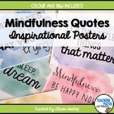 Mindfulness Resilience Well-Being Posters Inspirational Quotes