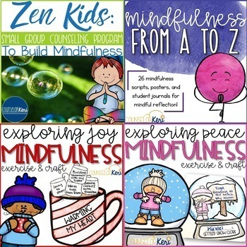 Mindfulness Resource Bundle - Elementary School Counseling