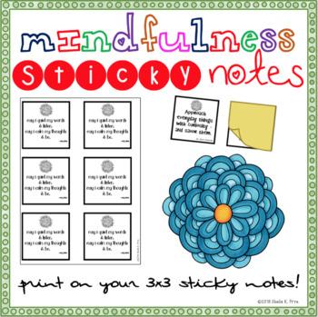 Mindfulness STICKY NOTES w/a Bonus Booklist - Mindset- Habits of Mind