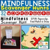 MINDFULNESS Scavenger Hunt Worksheets: For Relaxation and Calm