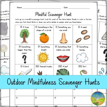 Mindfulness Scavenger Hunts - Distance Learning and Google Classroom