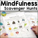 Mindfulness Scavenger Hunts - SEL Printable and Digital Ac
