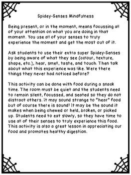 Mindfulness Spidey-Senses Activity - 5 Senses