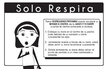 Spanish Mindfulness Poster Strategies Just Breathe- PDF