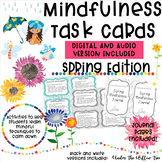 Mindfulness Task Cards / Brain Breaks - SPRING Edition - Journal Pages Included