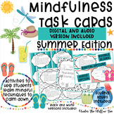 Mindfulness Task Cards / Brain Breaks - Summer Edition - Journal Pages Included