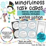 Mindfulness Task Cards | WINTER | DIGITAL & AUDIO Included