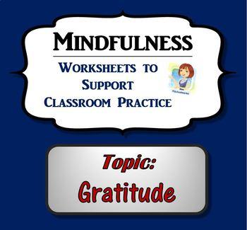 Mindfulness Worksheet - Gratitude